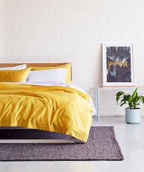 colonel mustard quilt cover set
