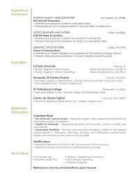 Videographer Resume Sample by Resume Description For Freelance Graphic Designer Reportz