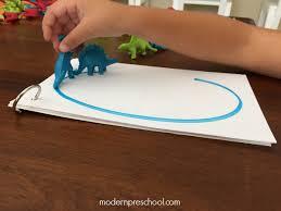 dinosaur letter tracing for preschoolers