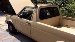 volkswagen rabbit truck 1981 volkswagen caddy rabbit pick up truck idle and revving 1 8l