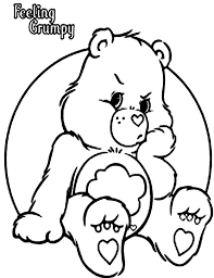 grumpy bear bad mood care bear colouring happy
