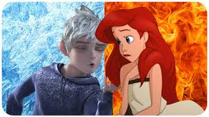 ariel and jack frost are in love jack cheating elsa with ariel