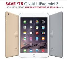 black friday deals for tablets best buy takes 100 off ipad air 2 75 off ipad mini 3 tablets