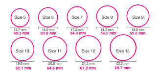 wedding ring sizes womens ring size chart inches socialmediaworks co