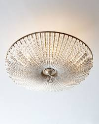 Flush To Ceiling Light Fixtures Richard Collection Beaded Six Light Semi Flush