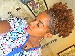 poof at the crown hairstyle high puff with french braid youtube