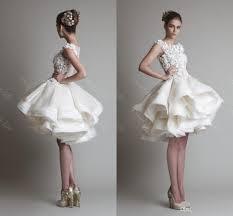 2015 vintage short ball gown wedding dresses krikor jabotian cap
