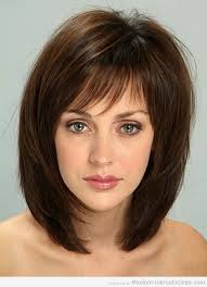 are bangs okay with medium short hair on 50 year old thin shoulder length hairstyles medium length hairstyles with
