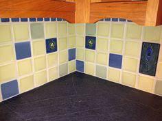 Motawi Tile Backsplash by Tiled Floor In Kids Bath 12x24 Tiles With 1x1 Border Tile Inset
