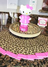 Setting A Table by Hello Kitty Cheetah Birthday Cute Way To Display Plates And