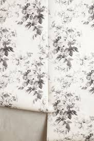 White Rose Bedroom Wallpaper Smoky Rose Wallpaper Anthropologie