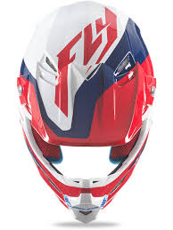fly racing motocross fly racing red blue white f2 carbon pure mx helmet fly racing