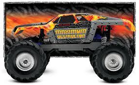 rc monster jam trucks traxxas 3602t maximum destruction rtr electric rc truck at hobbytron