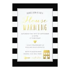 housewarming party invitations stripes gold housewarming party invitation card