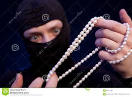 man pearl necklace images Thief man in black mask with a pearl necklace stock image image jpg
