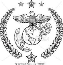 marine corps coloring pages marine corps usmc seal vector