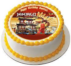 ninjago cake toppers lego ninjago temple of edible birthday cake or cupcake topper