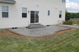 Colored Concrete Patio Pictures Stamped Concrete Patio And Step In York Pa Carbaugh Concrete