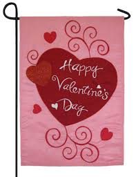 Valentine S Day Flags Scroll Hearts And Glitter Applique Garden Flag I Americas Flags