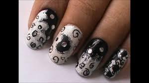 nail art designs magic nails black n white easy nail art for