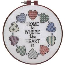 dimensions home and sted cross stitch kit multi colour