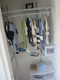 baby nursery an organized ba closet with closetmaid shelftrack