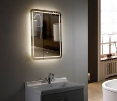 Heated Bathroom Mirror With Light Bathrooms Design Modern Lighted Mirror Bath Mirror Lights Heated