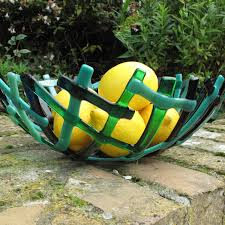 fruit bowl fused glass bowl green glass bowl large glass