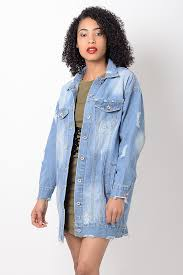 light distressed denim jacket stylish light blue distressed oversized denim jacket stylish jackets