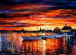 helsinki u2014 sailboats at yacht club u2014 palette knife oil painting on