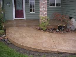 Cover Cracked Concrete Patio by Stained Cement Porch Concrete Walkway Ideas Cement Walkways