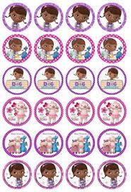 doc mcstuffins edible image doc mcstuffins edible image cupcake toppers 12 per sheet ebay