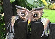 metal owl garden statues ornaments ebay