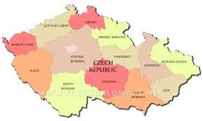 Bohemia Map Czech Republic Political Map