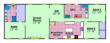 mobile home floor plan carriage manor by fleetwood floor plans