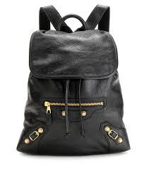 balenciaga giant traveller xs leather backpack black women
