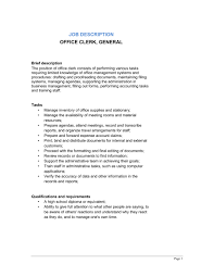 Office Clerk Job Description For Resume by Sales Clerk Jobs Resume Cv Cover Letter