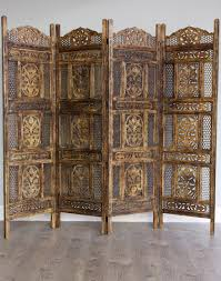 Moroccan Room Divider Ombre Antiqued Wood Room Divider Wooden Screen Divider And Moroccan