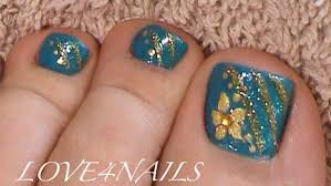 blue u0026 gold toe nail art design nail art gallery