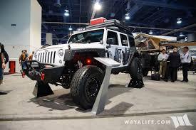 white jeep 2016 2016 sema smittybilt white jeep jk wrangler trailer
