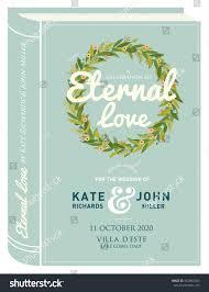 Wedding Invitation Card Templates Book Cover Wedding Invitation Card Template Stock Vector 402982504