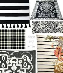 Black And White Striped Kitchen Rug Black And White Kitchen Rugs For Artistic Floor Mats For Home