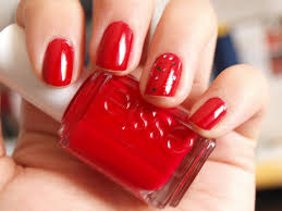 red color nail design how you can do it at home pictures