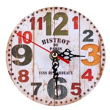 Wooden Wall Clock by Vintage Wooden Wall Clock Lazada Malaysia