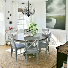 Chic Coastal Living by Coastal Dining Room Makeover Sand And Sisal