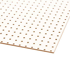 Peg Board | white pegboard common 3 16 in x 2 ft x 4 ft actual 0 165 in