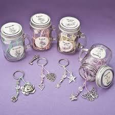 jar favors sentimental flowers mini jar mug key ring favors set of 12