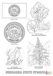 flag of nebraska coloring page in state coloring page
