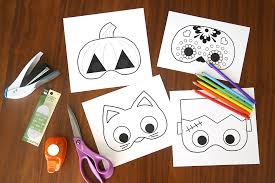 Fun Halloween Crafts - halloween masks to print and color it u0027s always autumn