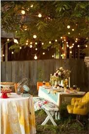 Backyard Party Lights by Great Ideas For Outdoor Parties Fun Party Shower Ideas